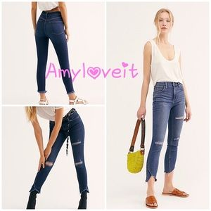 Free People Sunny Mid-Rise Skinny Jeans